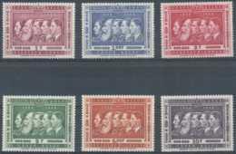 D - [203543]TB//**/Mnh-Congo Belge 1958, N° 344/49, Dynastie, Les 5 Rois Belges, SC - Familles Royales