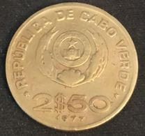 CAP VERT - CABO VERDE - 2,5 ESCUDOS 1977 - KM 18 - FAO - Cape Verde