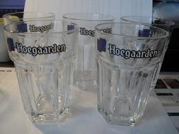LOT DE 5 VERRES A BIERE HOEGAARDEN. 25 CL - Glasses