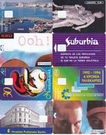 8 Télécartes Sans Puce (corps De Carte) - Telefoonkaarten