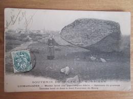 Golfe Du Morbihan  . Locmariaquer  . Menhir Brise Aux Gigantesques Debris . Specimen Du Gracieux . Dos 1900 - Locmariaquer