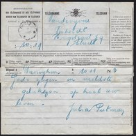 TELEGRAM 1925 MET TELEGRAAFSTEMPEL THIELT - WAEREGHEM > TIELT - Stamped Stationery
