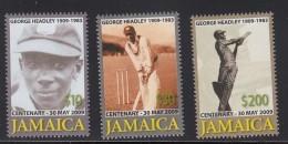 2009 Jamaica Cricket  Complete Set Of 3 & Souvenir Sheet  MNH - Jamaique (1962-...)