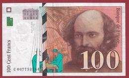 "100 Francs ""Cézanne"" 1997 ---SUP--ALPH -C- Numéro .007753384 - 1992-2000 Ultima Gama"