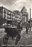 PALERMO-PIAZZA SAN FRANCESCO DI PAOLA E GRATTACIELO-BELLA ANIMAZIONE-CARTOLINA VERA FOTOGRAFIA VIAGGIATA IL 20-7-1959 - Palermo
