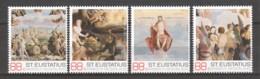 Caribbean Netherlands (St Eustatius) - MNH Set PAINTING LUCAS VAN LEYDEN - THE FINAL JUDGEMENT - Künste