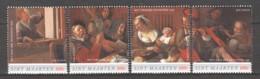 Sint Maarten - MNH Set PAINTING JAN STEEN - THE MERRY FAMILY - Art
