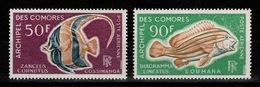 Comores - YV PA 23 & 24 N** Poissons Cote 16,50 Euros - Airmail