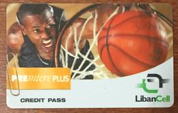 LIBAN LIBANCELL BASKET RECHARGE GSM CREDIT PASS EXP 13/01/2002 PHONECARD TELECARTE PRÉPAYÉE - Libano