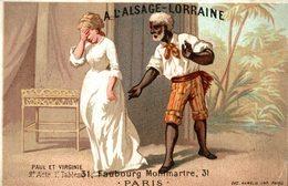 CHROMO A L'ALSACE LORRAINE PAUL ET VIRGINIE - Chromos