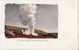 USA - Giant Geyser Yellowstone National Park - Carte Gauffrée Précurseur - USA National Parks