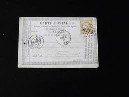 CARTE PRECURSEUR  DE AUFFAY POUR ROUEN  -  1875  -  CACHET LOSANGE  3219 - Voorloper Kaarten