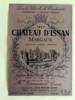 MARGAUX  ETIQUETTE CHATEAU D'ISSAN 1977     1.5L                                                  §29/04/20/§ - Bordeaux