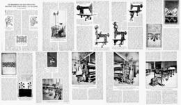 LA BRODERIE LA PLUS DELICATE PEUT ETRE EXECUTEE  à La MACHINE 1922 - Habits & Linge D'époque