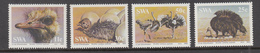 BIRDS Ostrich 1985 SWA Mi 566-569 Complete Set  MNH (**) #21292 - Oiseaux