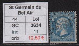 St Germain Du Bel Air - Lot - GC 3634 - Marcophilie (Timbres Détachés)