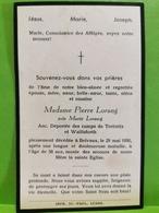 Doodebiller Luxembourg, Belvaux, Pierre Lorang Anc. Déportée Des Camps De Trebnitz Et Wallisfurth - Unclassified