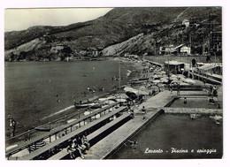 XW 1526 Levanto (La Spezia) - Panorama - Piscina E Spiaggia / Viaggiata 1956 - Autres Villes