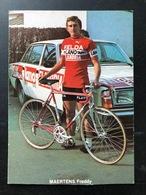 Freddie Maertens - Velda 1978 - Carte / Card - Cyclists - Cyclisme - Ciclismo -wielrennen - Cyclisme