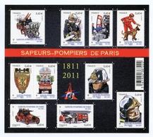 France - Bloc-feuillet Pompiers De Paris - 50 % Faciale - Blocs & Feuillets