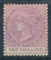 [59920]TB//*/Mh-c:150e-St Christophe : N° 16, 1s Violet, Bon Centrage Et Signé - St.Christopher-Nevis-Anguilla (...-1980)