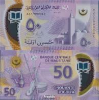 Mauretanien Pick-Nr: 22 Bankfrisch 2017 50 Ouguiya - Mauritanien