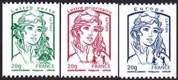 France Marianne De La Jeunesse De Ciappa Et Kawena N° 4778 - 4779 - 4780 ** Les Gommés 20 Grammes - 2013-... Marianne De Ciappa-Kawena