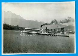 Suisse Lac Des 4 Cantons * Bateau à Vapeur « Germania » - Photo Originale 1924 - Voir Scans - Orte