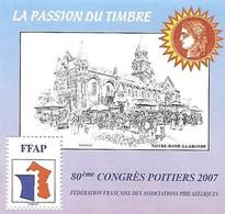FRANCE - Bloc FFAP - N° 1 - Année 2007 - Poitiers - Neuf** - FFAP