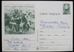 Romania  Entero Postal Stationery Card Entier Military Militaire Radio Soldier War Guerre Comunications - Interi Postali