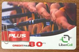 LIBAN LIBANCELL AVIRON SCULLER RECHARGE GSM 80U EXP 03/05/2005 PHONECARD PAS TELECARTE CARTE TÉLÉPHONIQUE PRÉPAYÉE - Liban