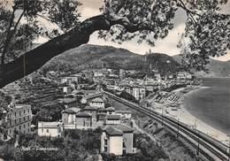 """010438 """"(SV) RIVIERA DELLE PALME - NOLI - FERROVIA"""" PANORAMA. CART  SPED 1958 - Savona"""