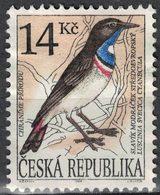 Tchéquie 1994 Oblitéré Used Bird Oiseau Luscinia Svecica Cyanecula Gorgebleue SU - Czech Republic