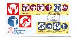 PHILIPPINES FDC 1993 SERIE JEUX DU SUD EST ASIATIQUE - Andere
