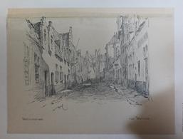 GENT LITHOGRAPHIE  31 X 22 CM   RUE WELLINCK    ZIE LAKKER BOVENAAN - Gent
