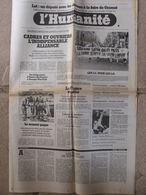 Journal L'Humanité (17 Mars 1980) Eleveurs Foire De Gramat - Marée Noire - Aménagement Temps Travail - 1950 à Nos Jours