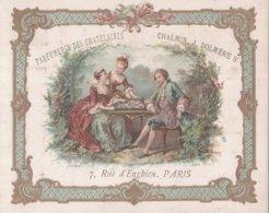 CHROMO  PARFUMERIE DES CHATELAINES PARIS  JEU DE DAMES - Chromos