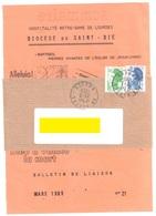 VITTEL 88 Vosges Bande De Journal Et Couverture De La Revue Ob 16 8 1988 50g Liberté 2 F Vert 70c Bleu Yv 2484 2240 - Francia