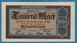 Bayerische Notenbank 1000 Mark01.10.1922# K 980841 P# S924 - [11] Emissioni Locali