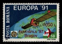 Romania - Roumanie 1997 Yvert 4413, Aeromfila '97, Brasov - Overprinted Europa '91 Issue - MNH - Unused Stamps