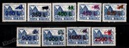 Romania - Roumanie 1998 Yvert 4461-69, Definitive Set, Hostels & Hotels - Zodiac Overprint + New Values - MNH - Neufs