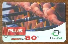 LIBAN LIBANCELL AVIRON SCULLER RECHARGE GSM 80U EXP 11/07/2005 PHONECARD PAS TELECARTE CARTE TÉLÉPHONIQUE PRÉPAYÉE - Liban