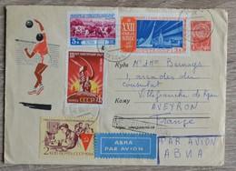 Timbres Russie Urss Sur Lettre Cover 1962 Tres Bon Etat - Russie & URSS