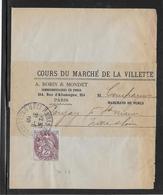 France Type Blanc Sur Lettre - 1900-29 Blanc