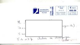 Lettre Flamme Ema Reims Lycee Eiffel - Poststempel (Briefe)