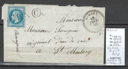 France - Lettre - GC 3142 - RIMONT En Ariége - Facteur C Identifié De Castelnau Durban - 1868 - Marcophilie (Lettres)