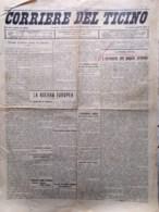 Corriere Del Ticino Del 2 Agosto 1916 WW1 Popolo Armeno Cadorna Lugano Municipio - Guerre 1914-18