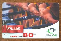 LIBAN LIBANCELL AVIRON SCULLER RECHARGE GSM 80U EXP 20/10/2006 PHONECARD PAS TELECARTE CARTE TÉLÉPHONIQUE PRÉPAYÉE - Libano