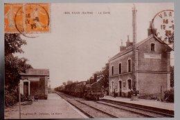 REF 496: Photo Repro CPA VAAS La Gare - France