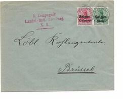 SH 0490. Oc 3-12 Càd NEERPELT 4.VIII.1916 S/L. De HAMONT + Censure Rouge 3.Compagnie/Landst.-Batl-Nieuburg/X.6. RR Et TB - WW I